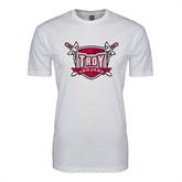 SoftStyle White T Shirt-Troy Trojans Shield
