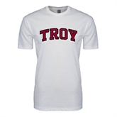 SoftStyle White T Shirt-Arched Troy