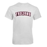 White T Shirt-Arched Trojans