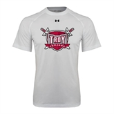 Under Armour White Tech Tee-Troy Trojans Shield