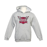 Youth Grey Fleece Hood-Troy Trojans Shield