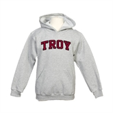 Youth Grey Fleece Hood-Arched Troy
