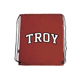 Cardinal Drawstring Backpack-Arched Troy