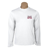 Syntrel Performance White Longsleeve Shirt-Troy Trojans Wide Shield