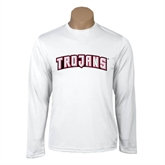 Syntrel Performance White Longsleeve Shirt-Arched Trojans