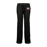 ENZA Ladies Black Fleece Pant-Troy Trojans Wide Shield