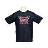 Youth Black T Shirt-Troy Trojans Shield