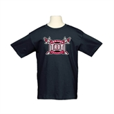 Youth Black T Shirt-Baseball