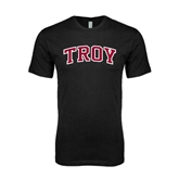 Next Level SoftStyle Black T Shirt-Arched Troy