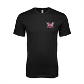 Next Level SoftStyle Black T Shirt-Troy Trojans Shield