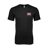 Next Level SoftStyle Black T Shirt-Troy Trojans Wide Shield