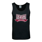 Black Tank Top-Troy Trojans Wide Shield