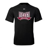 Under Armour Black Tech Tee-Troy Trojans Wide Shield