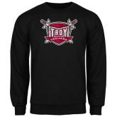Black Fleece Crew-Troy Trojans Shield