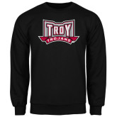 Black Fleece Crew-Troy Trojans Wide Shield