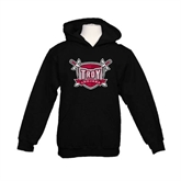 Youth Black Fleece Hoodie-Troy Trojans Shield