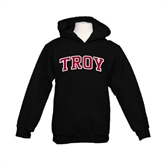 Youth Black Fleece Hoodie-Arched Troy