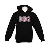 Youth Black Fleece Hoodie-Trojans Shield