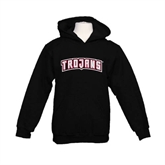 Youth Black Fleece Hoodie-Arched Trojans