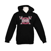 Youth Black Fleece Hoodie-Football