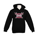 Youth Black Fleece Hoodie-Baseball