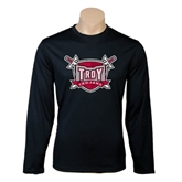 Syntrel Performance Black Longsleeve Shirt-Troy Trojans Shield