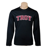 Syntrel Performance Black Longsleeve Shirt-Arched Troy