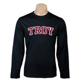 Performance Black Longsleeve Shirt-Arched Troy