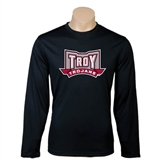 Syntrel Performance Black Longsleeve Shirt-Troy Trojans Wide Shield