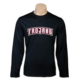 Syntrel Performance Black Longsleeve Shirt-Arched Trojans