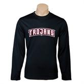 Performance Black Longsleeve Shirt-Arched Trojans