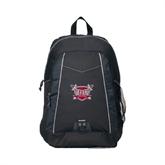 Impulse Black Backpack-Troy Trojans Shield
