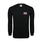 Black Long Sleeve TShirt-Troy Trojans Wide Shield