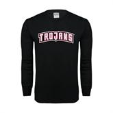 Black Long Sleeve TShirt-Arched Trojans