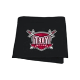 Black Sweatshirt Blanket-Troy Trojans Shield