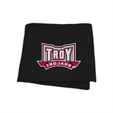 Black Sweatshirt Blanket-Troy Trojans Wide Shield