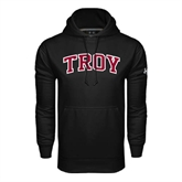 Under Armour Black Performance Sweats Team Hood-Arched Troy