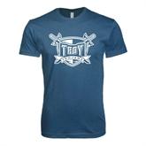Next Level SoftStyle Indigo Blue T Shirt-Troy Trojans Shield