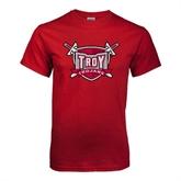 Cardinal T Shirt-Troy Trojans Shield