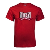 Cardinal T Shirt-Troy Trojans Wide Shield