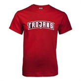 Cardinal T Shirt-Arched Trojans