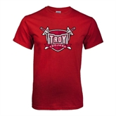 Cardinal T Shirt-Troy Trojans Shield Distressed