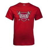Cardinal T Shirt-Troy Trojans Shield Distressed