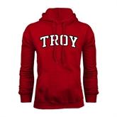 Cardinal Fleece Hoodie-Arched Troy