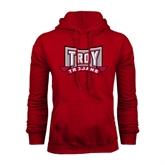 Cardinal Fleece Hoodie-Troy Trojans Wide Shield