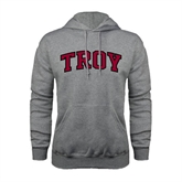 Grey Fleece Hoodie-Arched Troy