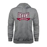 Grey Fleece Hoodie-Troy Trojans Wide Shield