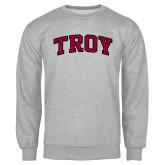 Grey Fleece Crew-Arched Troy