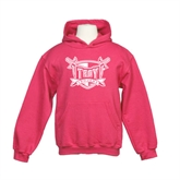Youth Raspberry Fleece Hoodie-Troy Trojans Shield