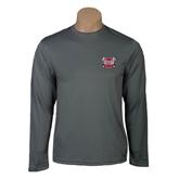 Performance Steel Longsleeve Shirt-Troy Trojans Shield